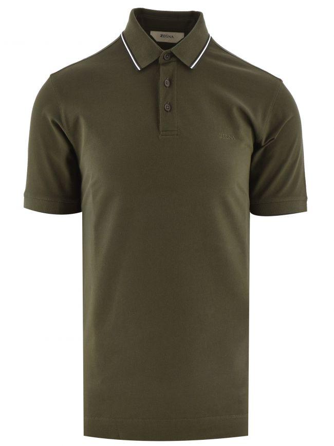 Dark Green Short Sleeve Polo Shirt