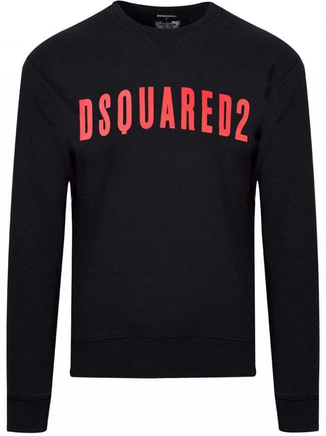 Black & Red Logo Crew Neck Sweatshirt