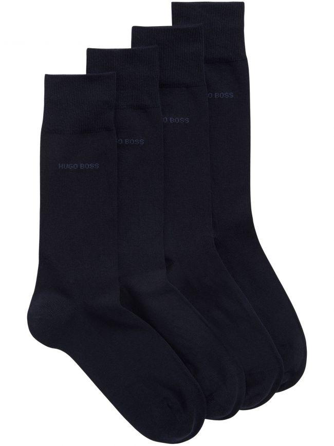 Navy 2-Pack Soft Cotton Socks