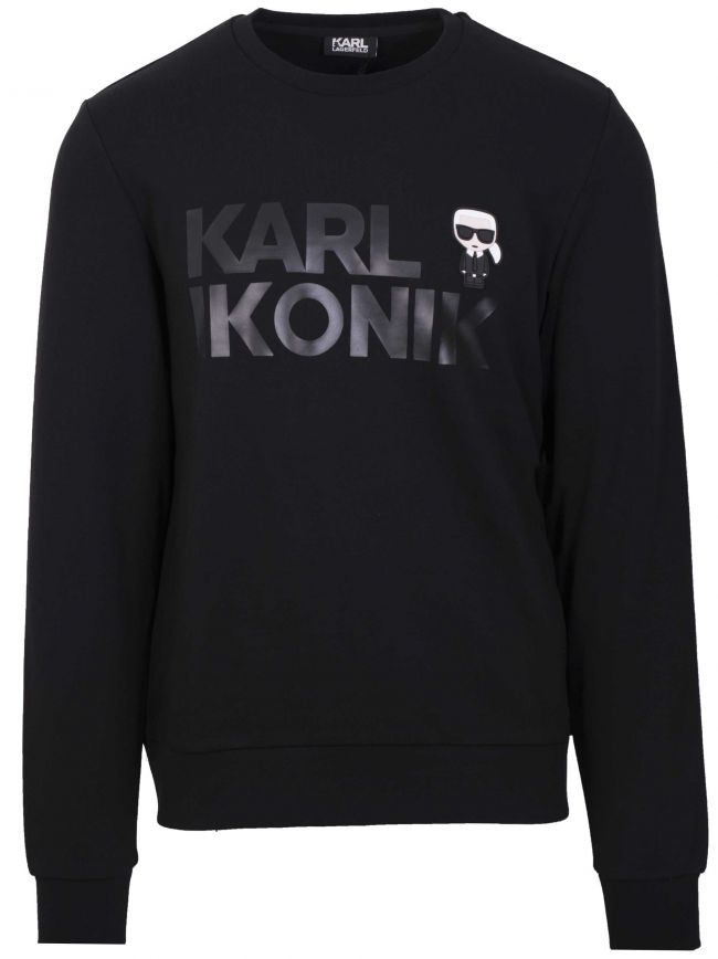Black Logo Crew Neck Sweatshirt