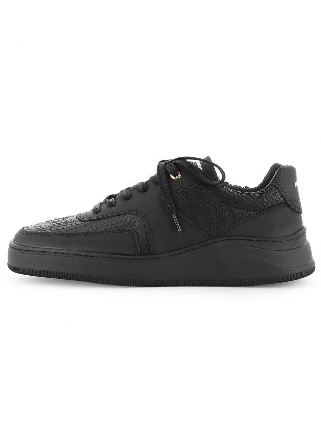 Black Lowtop 4.0 Gum Leather Python Sneaker