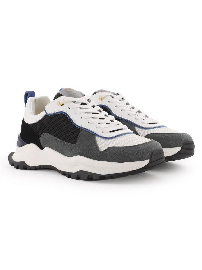 White Suede Mesh Leo Carillo 321 Sneaker
