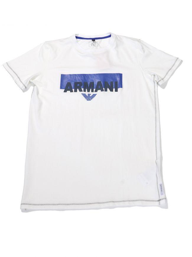 Armani Kids White Logo Crew Neck T-Shirt