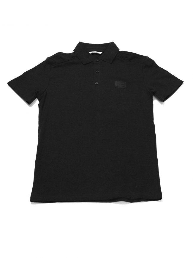Antony Morato Kids Charcoal Plaque Short Sleeve Polo Shirt