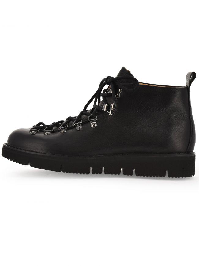 Black Ripple Sole Scarponcino Boot