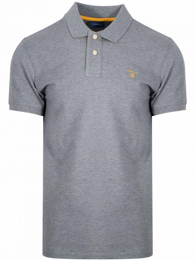 Grey Constrast Polo Shirt