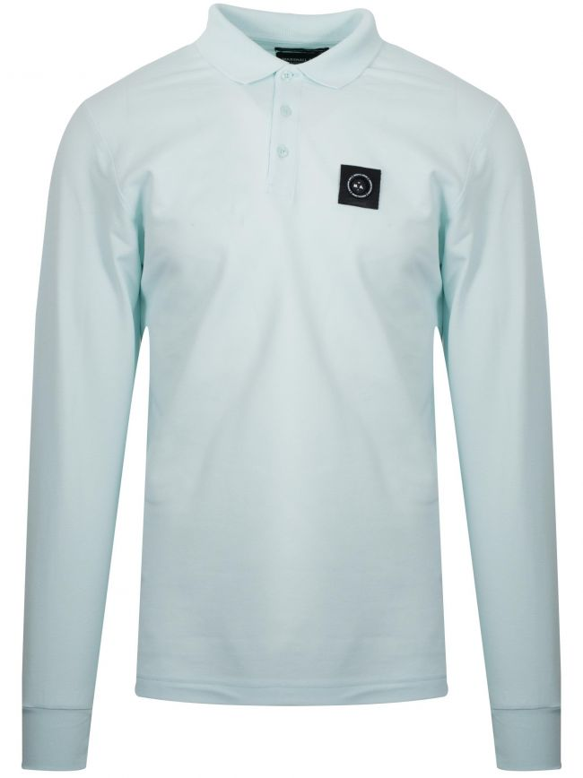 Light Aqua Long-Sleeved Siren Polo Shirt