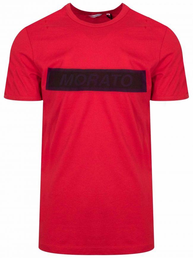 Red Print Logo T-Shirt
