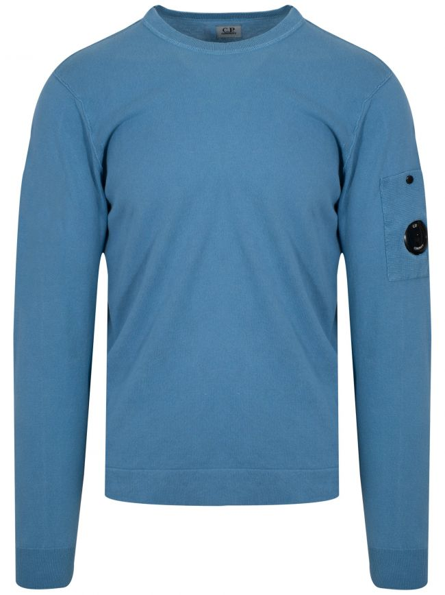 Sky Blue Lens Knitted Sweatshirt