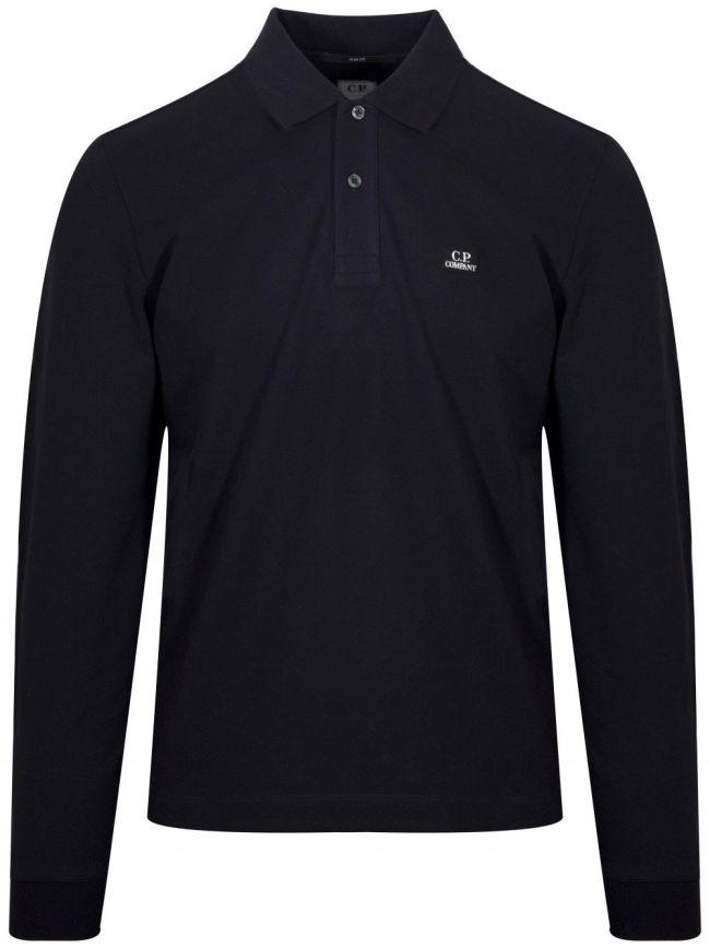 Navy Blue Long Sleeve Polo Shirt