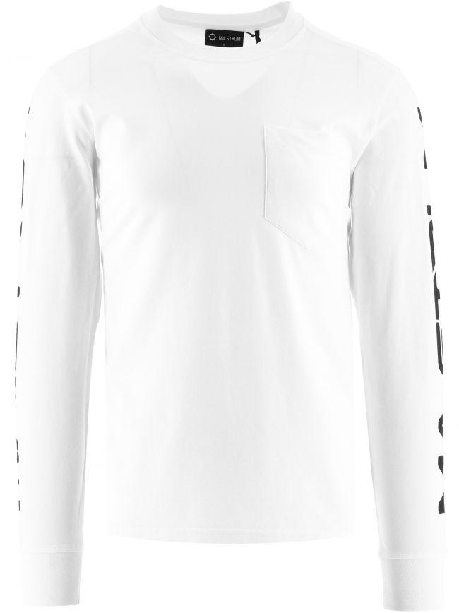 White Sleeve Print T-Shirt