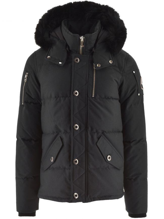 Black 3Q Fur Hood Jacket