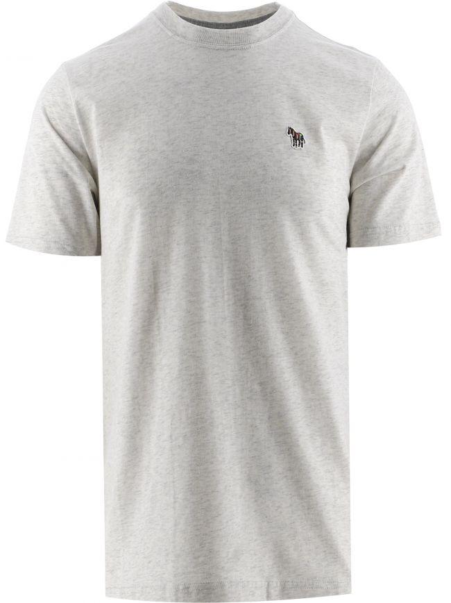 Grey Slim Fit Zebra T-Shirt