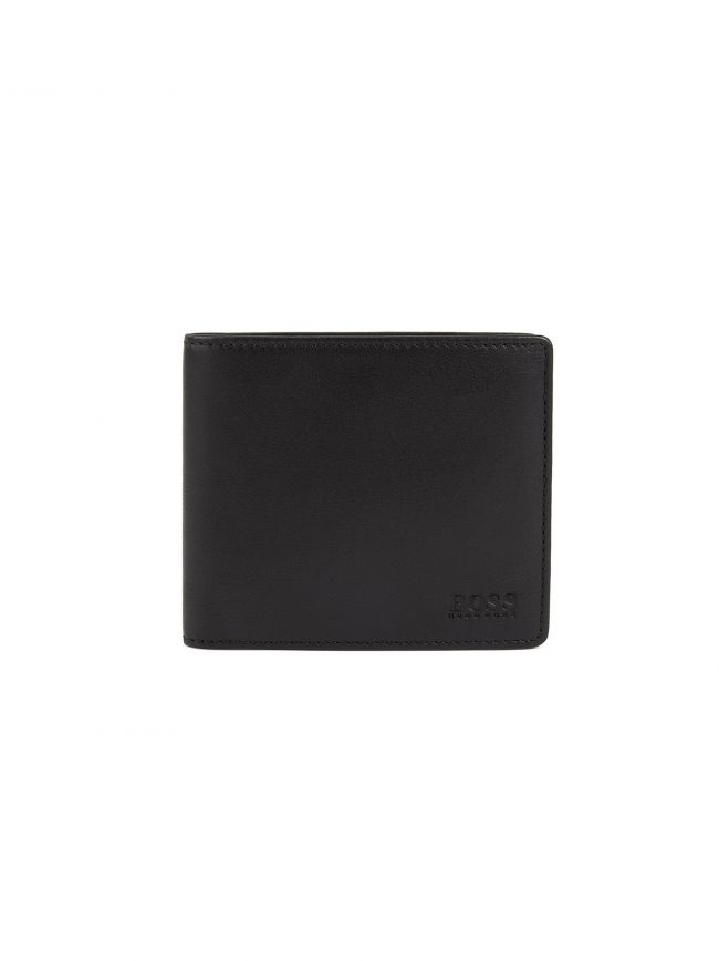 Black Nappa Leather Billfold Wallet