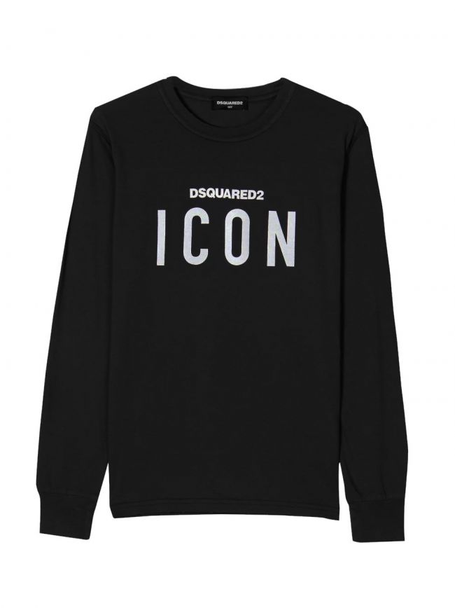Black & White ICON Logo Long-Sleeved T-Shirt