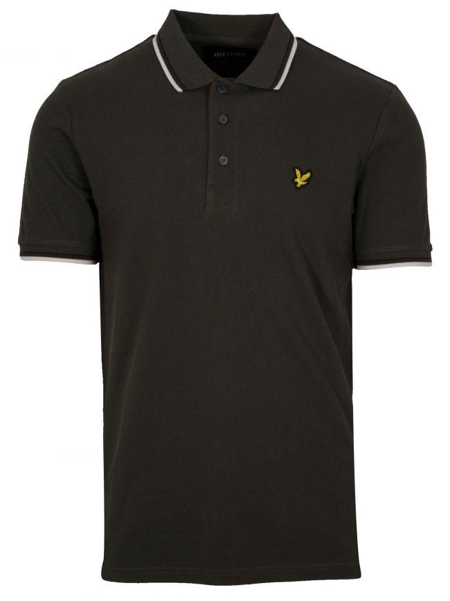 Khaki Tipped Polo Shirt