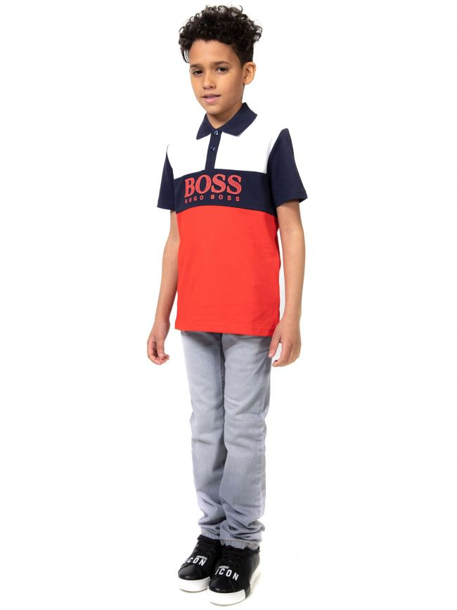 BOSS Kids Grey Straight Leg Jean