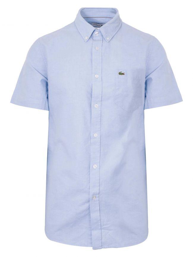 Regular Fit Short-Sleeved Blue Shirt