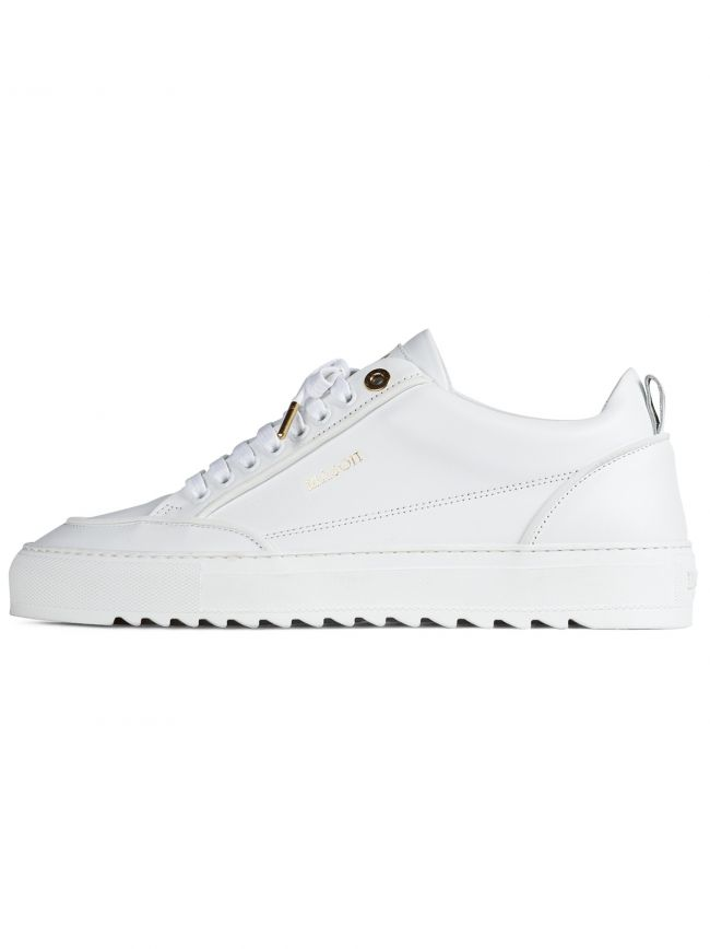 Reflective White Tia Leather Sneaker