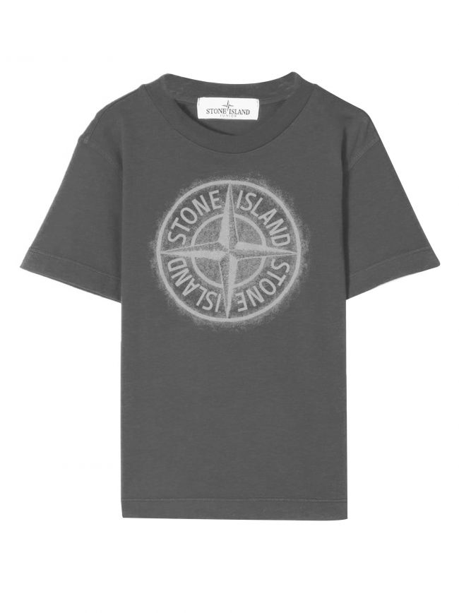 Grey Printed Chest Logo T-Shirt