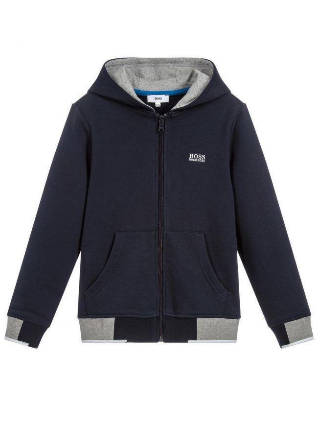 Navy & Grey Cotton Hoodie