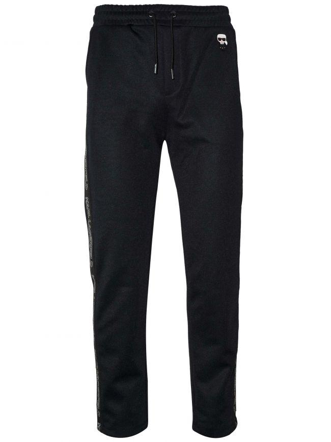 Navy Blue Polyester Jog Pants