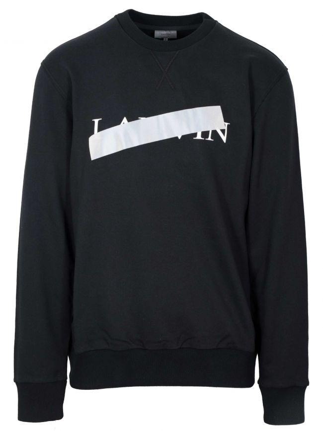 Black Reflective Cross Sweatshirt