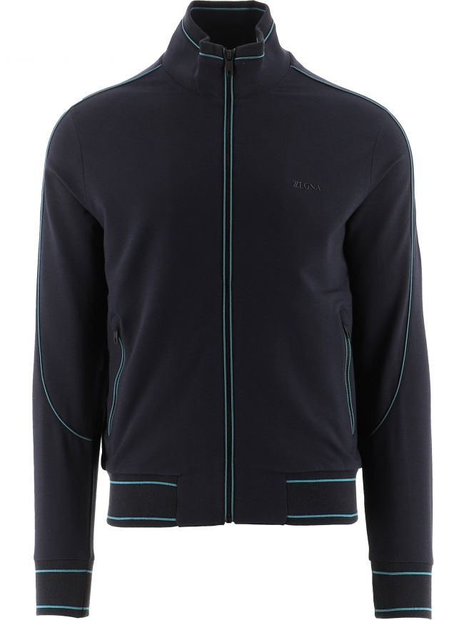 Navy Cotton Modal Striped Sweatshirt