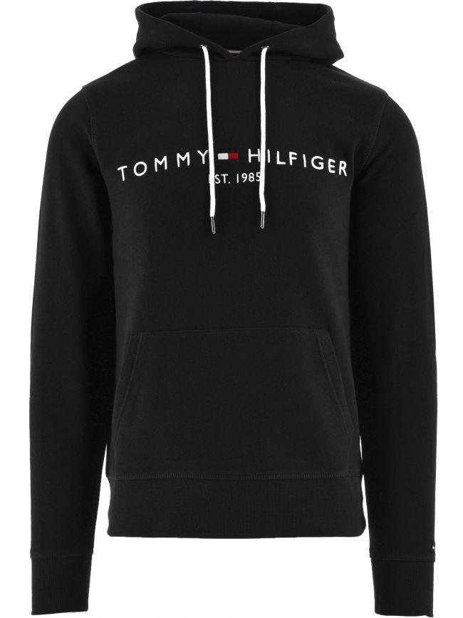 Black Core Tommy Logo Hoody