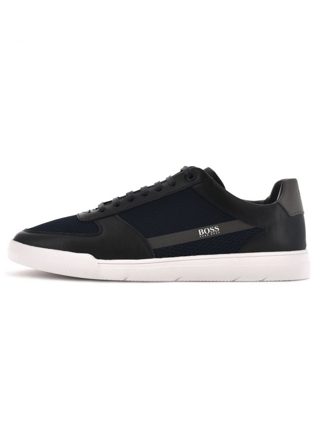 Black and Navy Cosmopool Trainers