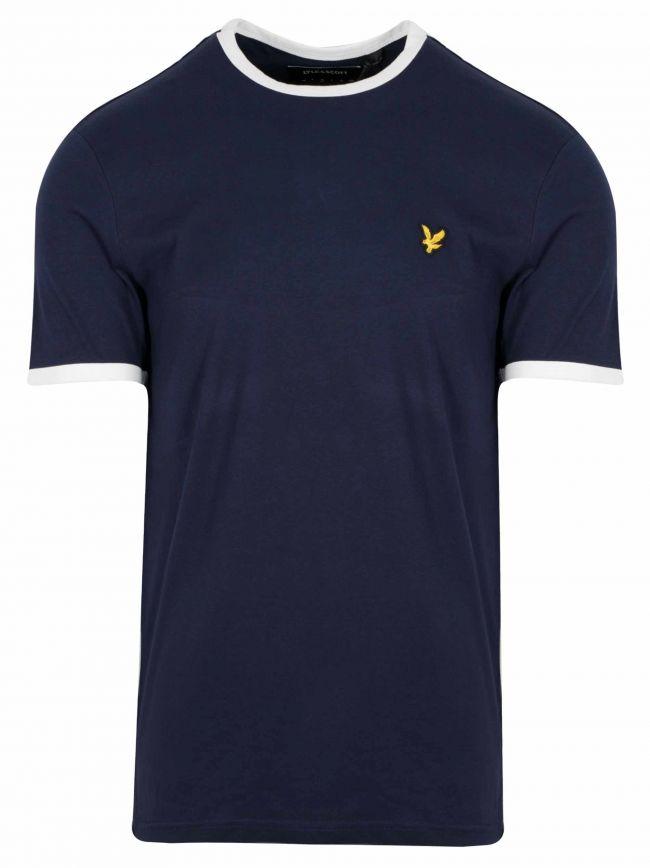 Navy & White Ringer T-Shirt