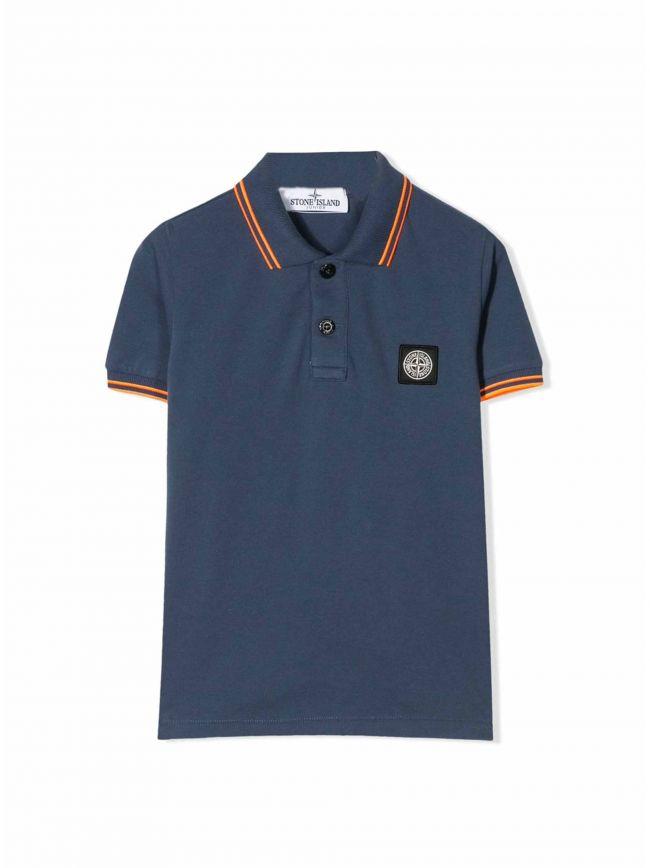 Light Navy Piqué Polo Shirt
