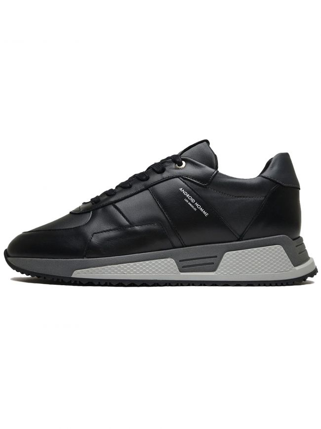 Black Smoke Leather Nylon Matador Sneaker