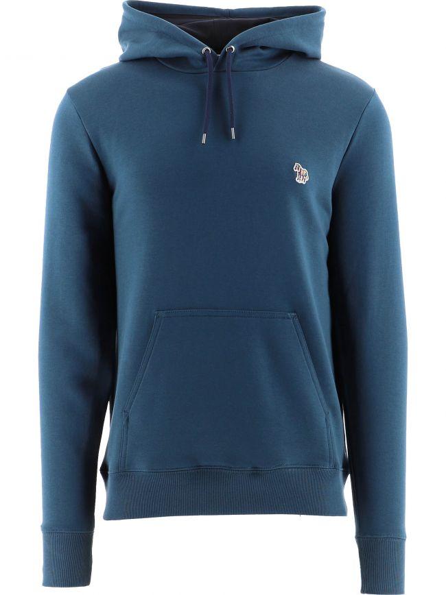 Blue (Petrol) Regular Fit Zebra Logo Hoodie