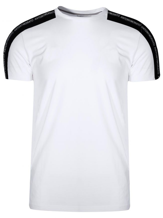 White Tape Arm Logo T-Shirt