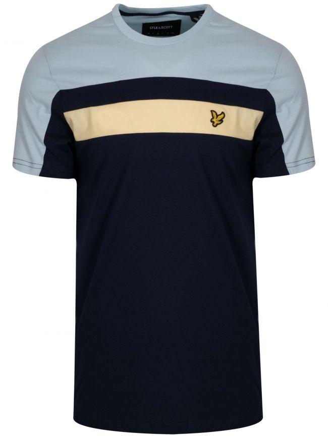 Navy Block Colour T-Shirt