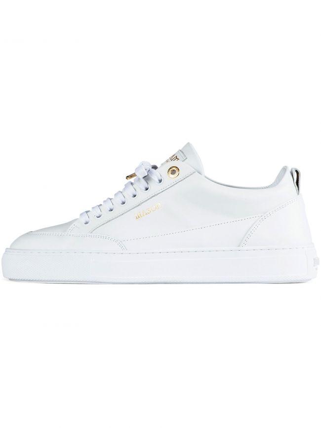 White Tia Low Leather Sneaker
