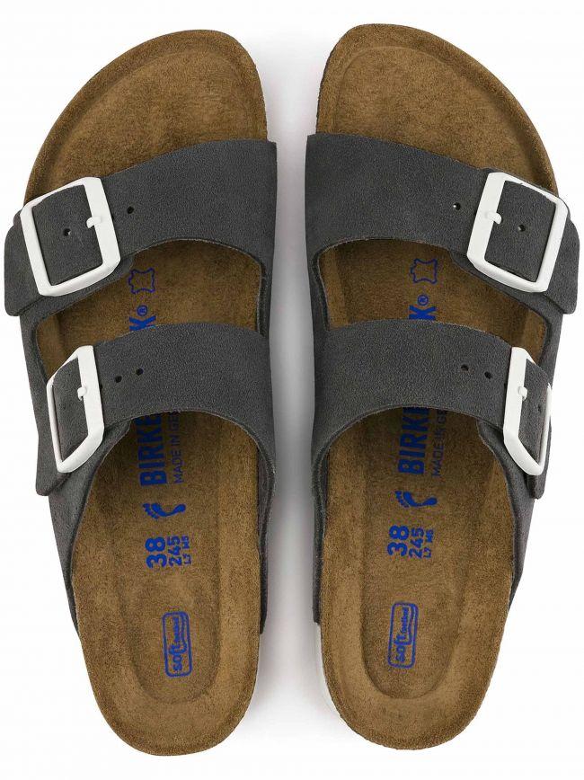 Gunmetal Arizona Leather Sandal