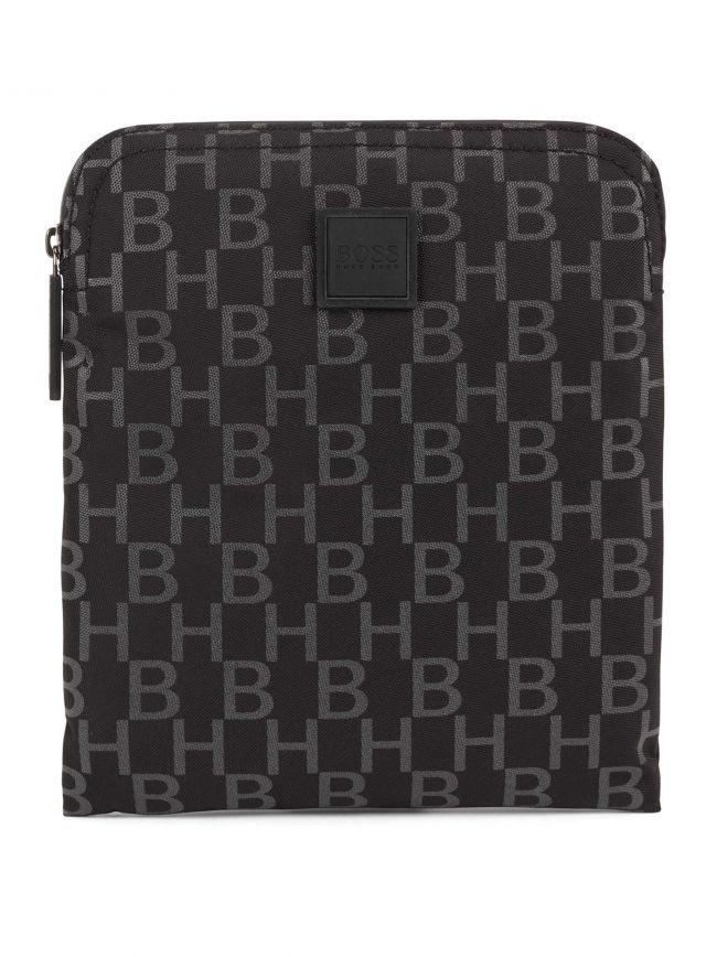 Black Pixel Zipped Pouch Bag