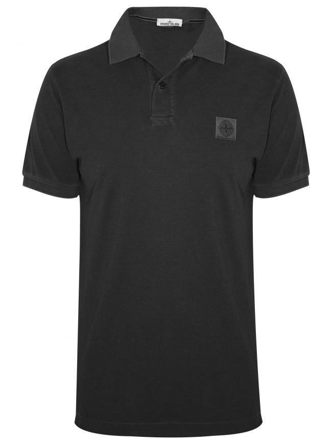 Garment Dye Grey Polo Shirt