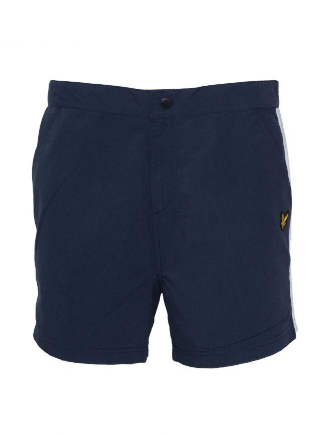 Navy Side Stripe Swim Shorts