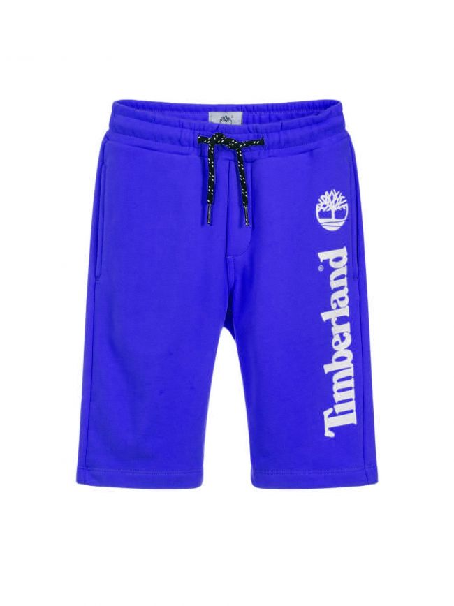 Blue Cotton Jersey Shorts