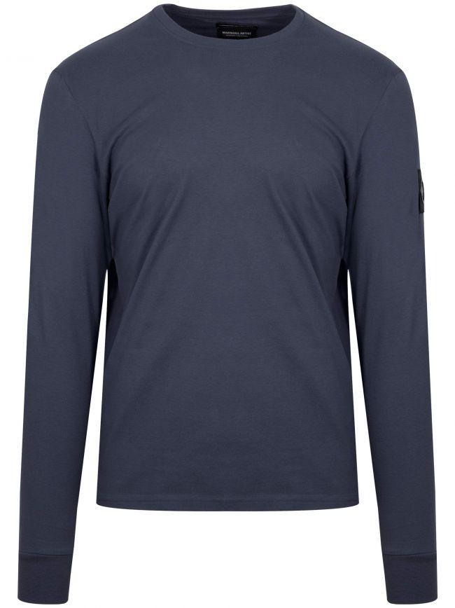 Navy Garment Dyed T-Shirt
