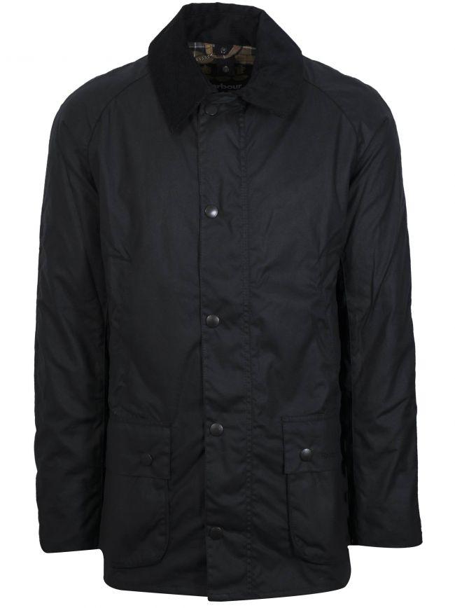 Navy Ashby Waxed Jacket