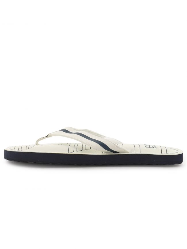 White and Navy Flip Flop