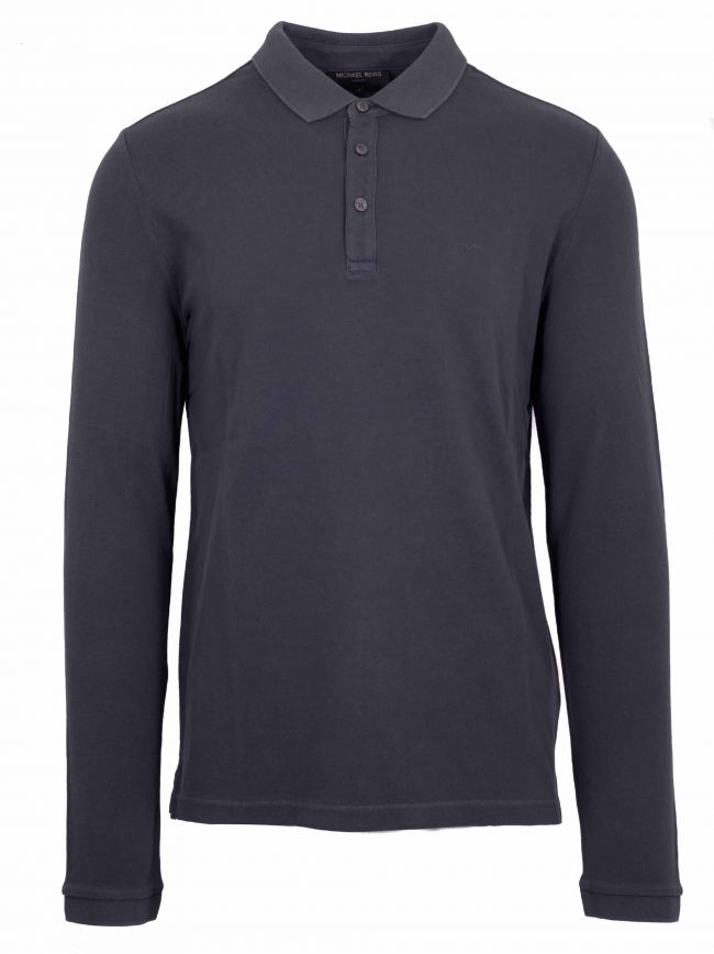 Midnight Blue Long Sleeved Polo Shirt