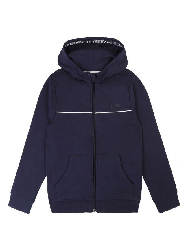 Navy Cotton Hooded Sweatshirt