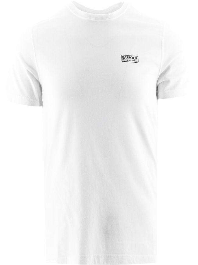 White Esssential Large Logo T-Shirt