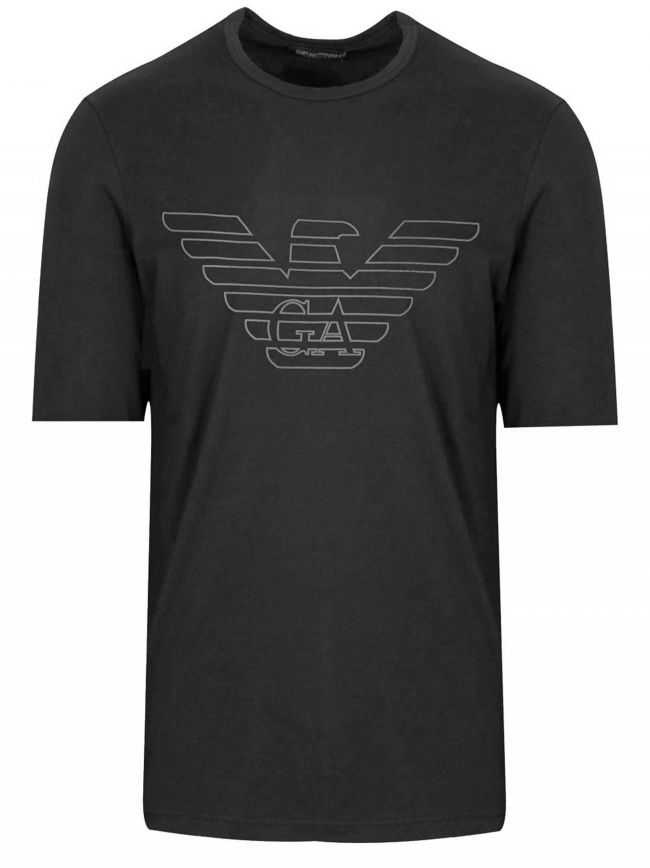Black Eagle Logo Short-Sleeved T-Shirt