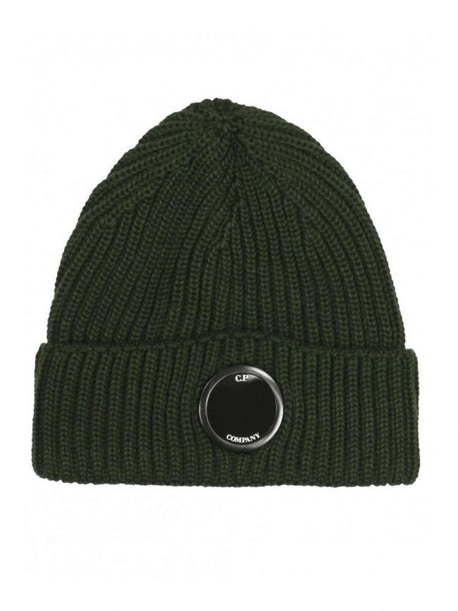 Khaki Lens Beanie Wool Hat